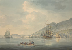 Part of Gibraltar from Rosia Bay with the Spanish Camp during the Seige